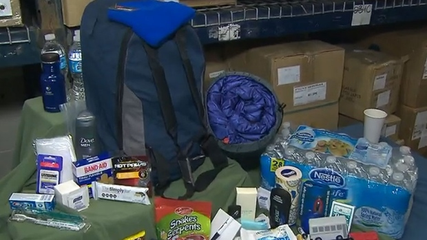'It's like Christmas': Volunteers hand out winter survival kits to the homeless